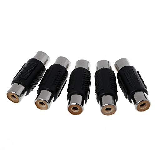 5 stücke Audio Video Cinch buchse auf buchse koppler für HDTV ps4 Xbox hdmi Splitter Kabel 1080 p Switch switcher hub Adapter - schwarz