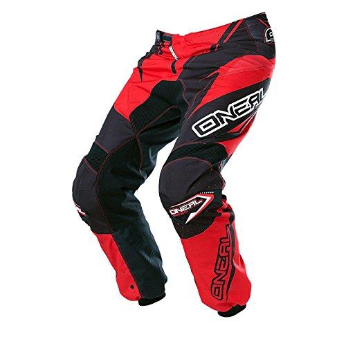O'Neal Element MX Hose Racewear Schwarz Rot Motocross Enduro Offroad Quad, 0128-3, Größe 32/48 (Mx-hose)