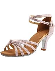TRIWORIAE - Donna Scarpe da Ballo Latino/Sala da Ballo/Standard Tacco 5cm/7cm Rosa (Tacco-7cm) 39 EU