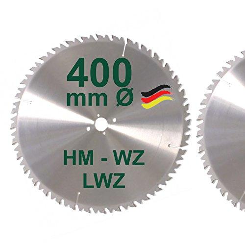HM Sägeblatt 400 x 30 mm LWZ Hartmetall Präzision Kreissägeblatt 400mm Wechselzahn mit Spanabweiser