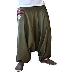 Pantalones bombachos hombre y mujer virblatt con tejidos tradicionales talla única pantalones cagados con cómodo cinturón elástico, S - L ropa - Feierabend