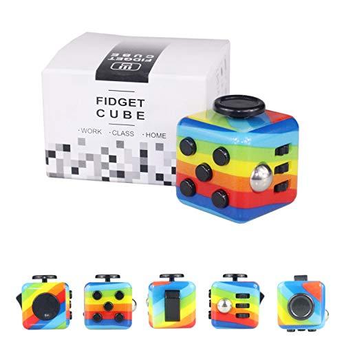 Yetech Rainbow Juguete Antiestrés Stress Cube,Cubo Anti-estrees para...