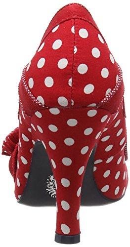 Ruby Shoo Issy, Escarpins femme Rouge (Red Spots)