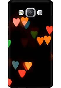 AMEZ designer printed 3d premium high quality back case cover for Samsung Galaxy A5 (abstract hearts )
