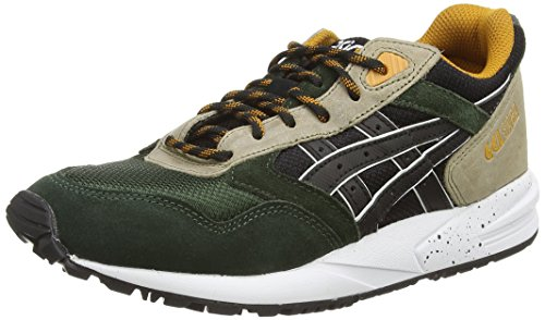 ASICS Gelsaga, Unisex Adults' Low-Top Sneakers Multicolore (Black/Green 9090)
