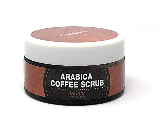 BeShiny Peeling Arabica Coffee Scrub - Beste Haut Peeling für Gesicht Hand & Körper für die Hautpflege Akne Ekzem Peeling Befeuchten, Stretch Marks Narbe Falten Spinne Venen - Shea-butter-zucker-peeling