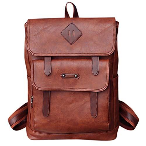 CryLee Herren Umhängetasche Ledertasche einfache Computertasche Rucksack mit großer Kapazität Fahrradrucksack Wasserdicht Atmungsaktives Leichtgewicht