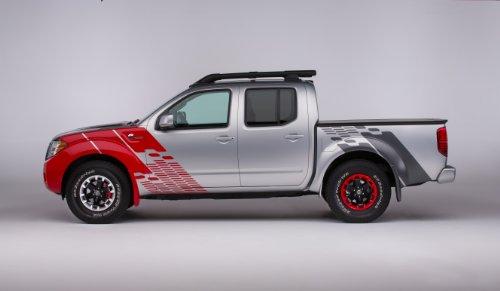 classique-et-muscle-car-ads-et-art-de-voiture-nissan-frontier-chemin-de-diesel-alimente-par-cummins-
