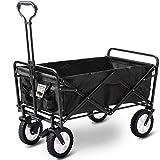 D4P Display4top Carro Plegable de Mano Carro Transporte para jardín Carro para Playa Carga 80kg (Negro)