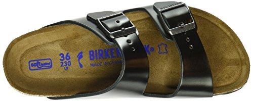 Birkenstock  Arizona Metallic, Mules femme Gris (Metallic Anthracite)