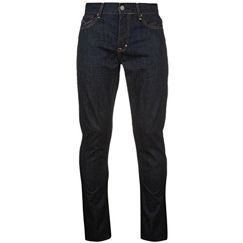 Firetrap Hommes Coupe Slim Skinny Jeans Pantalon En Denim Decontracte Poches Slim Raw