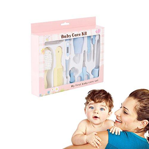 Yober-Set-Para-Cuidado-De-Beb-Set-Para-Recien-Nacidos-10-Pcs-Con-Aspirador-Nasal-Cepillo-de-Dientes-de-Dedo-Termmetro-Cortaua-Tijeras-Cepillo-de-Pelo-y-Peine-Etc