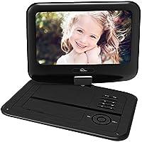 Reproductor de DVD portátil con Pantalla giratoria Batería Recargable incorporada 9,5 '' Digital Player para el Coche admite Tarjeta SD y USB