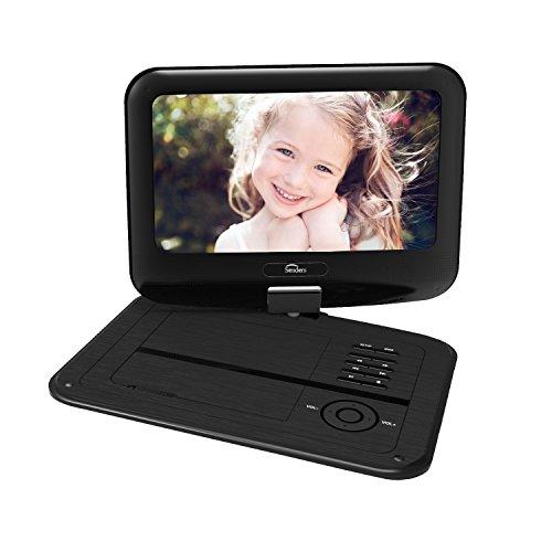 9.5'' Tragbarer DVD-Player,2500mAh 5 Stunden Akku, schwenkbaren Bildschirm, unterstützt SD-Karte und USB, mit - Portable Mit Dvd Tv