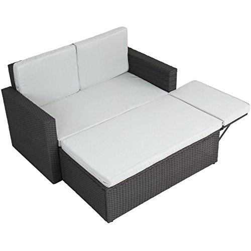 Miadomodo Multifunktionale Polyrattan Gartenmöbel Sofa Couch
