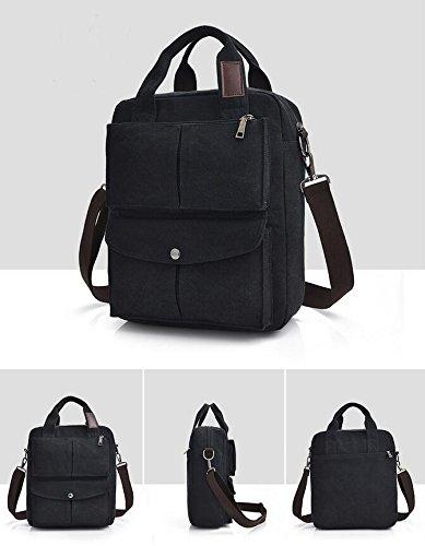 DJB/Canvas Casual Schultertasche Student Tasche Messenger Bag Schwarz