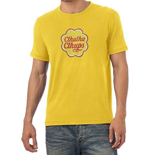 TEXLAB - Cthulhu Cthups - Herren T-Shirt Gelb