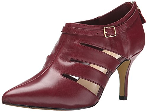 Bella Vita Women's Dylan Pump, Burgundy Leather, 6 W US -