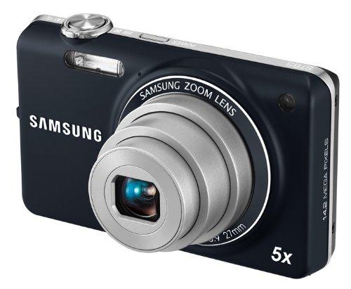 Samsung ST65 Digitalkamera (nur Micro-SD, 14,2 Megapixel, 5-fach opt. Zoom, 6,9 cm (2.7 Zoll) Display, bildstabilisiert) blau 14.2 Mp, 2.7