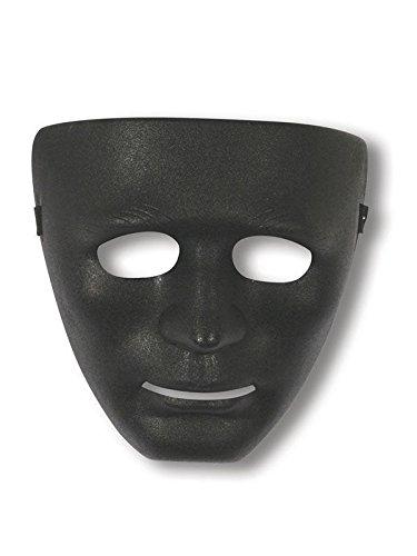 Fun World Costumes Gesichts-Maske Phantom schwarz Einheitsgröße