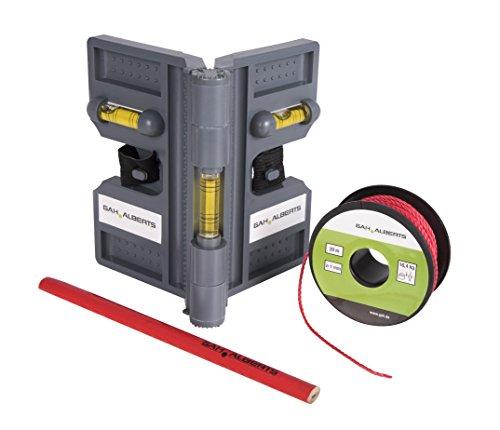 GAH-Alberts 212087 Montagehilfe für Pfostenträger, Bodenhülsen und Metallpfosten - Kunststoff, grau