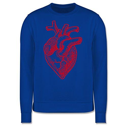 Statement Shirts - Organisches Herz Motiv - Herren Premium Pullover Royalblau