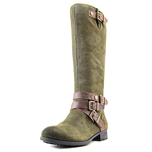 Marc Fisher Noreene Damen Rund Wildleder Mode-Knie hoch Stiefel Dark Green