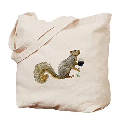 CafePress Einkaufstasche mit Eichhörnchen und Weinrot aus Segeltuch