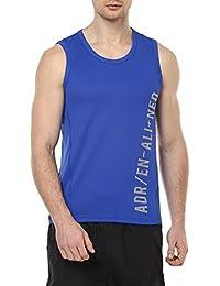 Ajile By Pantaloons Men's Plain Regular Fit T-Shirt (110028447002_Royal Blue_M)