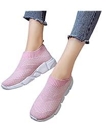 Zapatos casual para mujer,Sonenna Zapatos de malla al aire libre para mujer Slip casual en suelas cómodas Running Sports Shoes