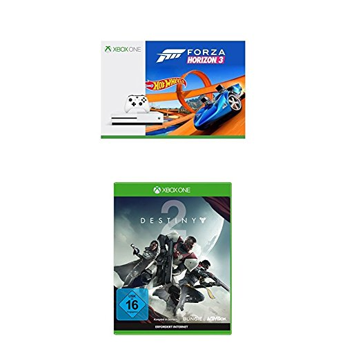 Xbox One S 500GB Konsole - Forza Horizon 3 Hot Wheels Bundle + Destiny 2