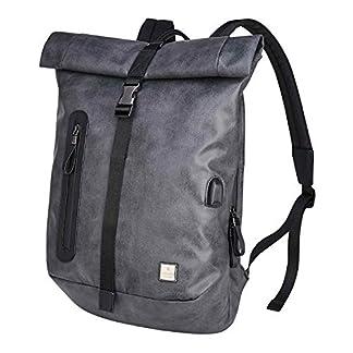 41pa05yuEKL. SS324  - BAIGIO Mochila Antirrobo Impermeable USB Mochila Portatil 15.6/14 Pulgadas Hombre Bolso de Viaje Trabajo Rolltop Backpack
