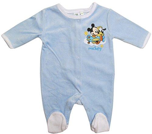 Mickey Mouse und Pluto Strampler Kollektion 2017 Strampelanzug 50 52 56 62 Jungen Maus Einteiler Neu Lang Baby Nicki Blau (50 - 52; Newborn, Blau)