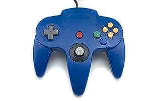 Gamelink Retro Classic USB Controller Gamepad Joysticks N64 Style for PC MAC Blue