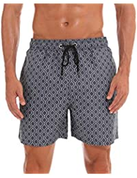 63f0933ba61d Kfnire Costume da Bagno Uomo, Calzoncini da Bagno Hawaiana Pantaloncini da  Spiaggia Mare Piscina Taschino