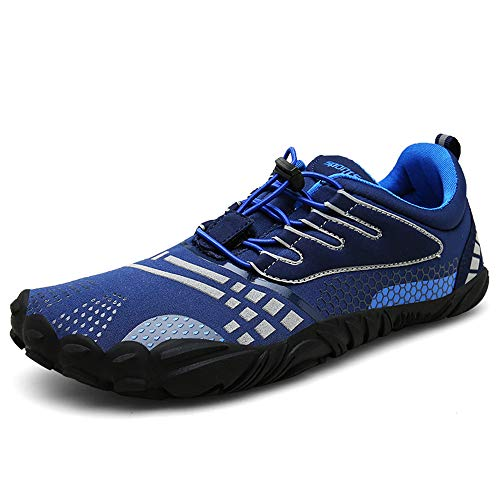 6320afc472bbd Barefoot Running Shoes Men Womens Minimalist Trainers Trail Walking Shoes  Darkblue