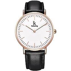 Leather Strap Men's Quartz Watch
