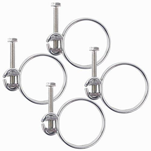 Fil Colliers Colliers Lot de 4 Ø 19 mm (3/4 ') pour tuyau spirale