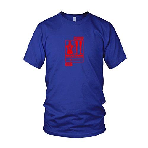 erren T-Shirt, Größe: L, Farbe: blau (Black Knight Heiligen Gral Kostüm)