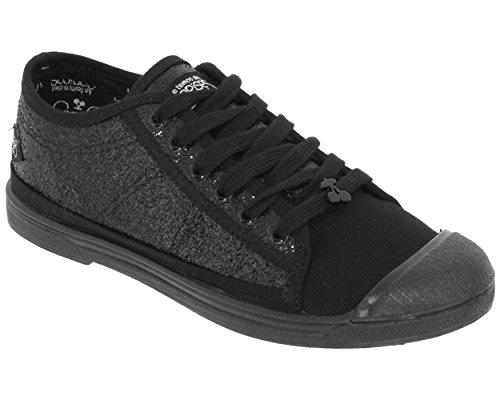 LC-BASIC 02-SS / PERM- Low-Sneakers-Baskets Basses Noir (glitter Black)