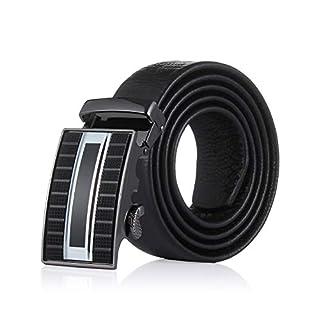 Demon&Hunter ABL Series Men's Auto Leather Belt H182B(Black/110CM)