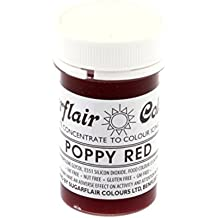Sugarflair Tartranil Paste Gel Edible Food Colouring Colour Icing 25G Poppy Red