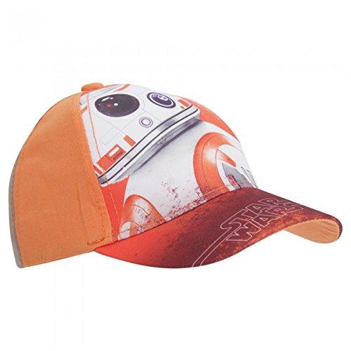 Disney Star Wars - Gorra con diseño de Disney Star Wars BB-8 (52cm/Naranja)