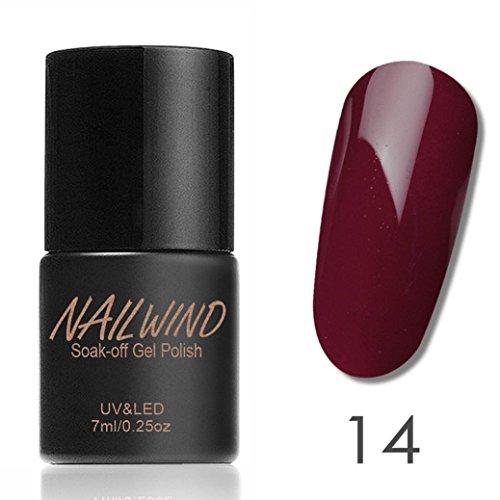 LCLrute NAILWIND dauerhafte Frauen 7ml Gel Nagellack Nail Art Gel Polnisch UV LED Gel (N) - Nagelhaut Feuchtigkeit