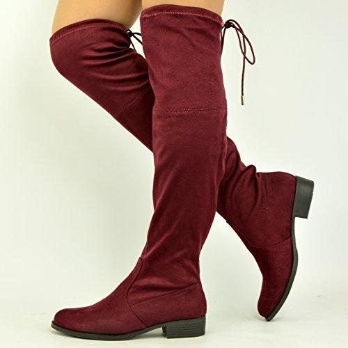 Cucu Fashion , Sandales Compensées femme Bordeaux