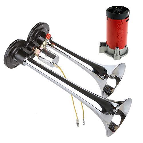 Preisvergleich Produktbild 1pc 12V Druckluft 150db Fanfare Hupe Horn Lufthorn Kompressor