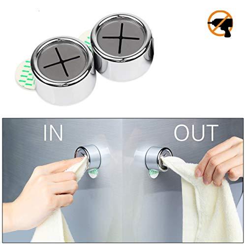 Eqosun® Sonderedition|praktischer Handtuchhalter mit Selbstklebender 3M Klebefläche|versetzbar ohne Rückstände (2er Pack)
