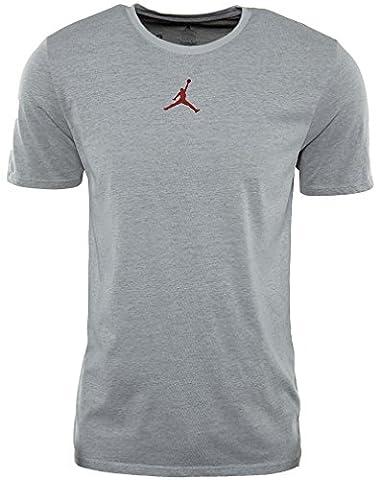 Nike Jordan Dri-Fit Motion T-Shirt Kurzarm der Linie Michael Jordan für Herren M Blanco (Blanco / Negro / Gym