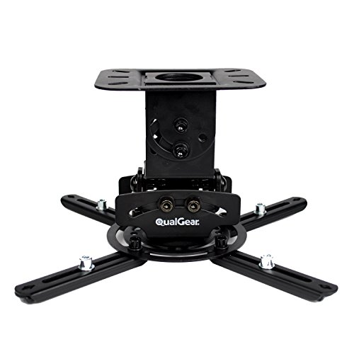 QualGear PRB-717-BLK Universal Ceiling Mount Projector Fixed Low-profile-lcd
