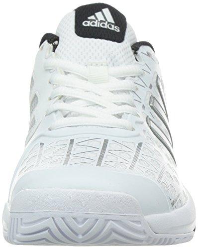 adidas Unisex-Kinder Barricade Club Tennisschuhe Weiß (Ftwr White/Matte Silver/Core Black)